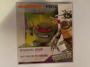 Nickelodeon Teenage Mutant Ninja Turtle Raphael iHOME Bluetooth Speaker, New