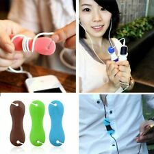 Wire Holder Cord Wrap Rubber Cable Winder Bone Shaped Earphone Organizer