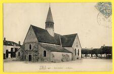 cpa 77 - THOMERY parvis de l'Eglise SAINT AMAND et la place GREFFULHE