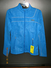 NWT Women's Blue Under Armour Fitted Coldgear MTN Wear Fleece Lined Jacket SM