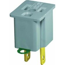 3pk Convert 3 Prong to 2 Prong AC Wall Outlet Cord End Adapter Polarized Leviton