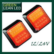LED SUBMERSIBLE Multivolt Stop Tail Indicator Light Lamp 100x100mm Trailer Boat