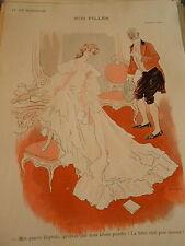 Nos Filles la lettre ouverte destinée à Maman !!! Print Art Déco 1906