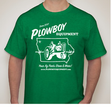Green PLOWBOY EQUIPMENT T Shirt Gildan Tractor Farm for John Deere M, L, XL, 2XL