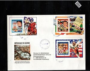 # GUINEA 1992 - FDC - SPORTS, AUTO RACING, RUGBY, SHIPS