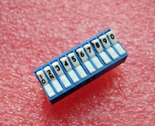 EECO D744 - PCB DIP SWITCH - 10 WAY ROCKER - 20 PIN DIL - BLUE with WHITE ROCKER
