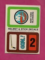 1979-80 TOPPS ISLANDERS  HELMET AND STICK DECALS INSERT NRMT-MT (INV# 8256)