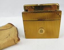 Ladylite Cigarette Case & Lighter by Marathon Art Deco Tobacciana Shield Emblem