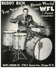 Buddy Rich - Poster Wfl Drums promo ad - Jazz Big Band Drum Master