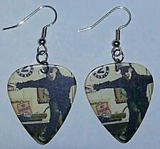 Justin Bieber Guitar Pick Earrings Silver Plated Dangle Jewelry #10