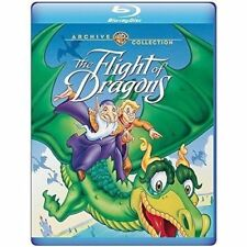 Blu Ray THE FLIGHT OF DRAGONS. Animated movie. Region free. New sealed.