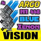 4x H1 Super Brillantes Coche Azul Bombilla halógena 55w Coche Delantero Faro 12v