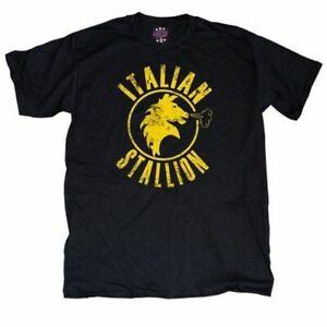 Rocky Italian Stallion Black Adult t-shirt tee
