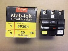 NEW FPE Federal Pacific NAH 20 Amp 3 Pole 240 Volt NA320H Circuit Breaker NA320