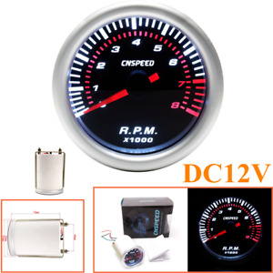 DC 12v Car Modified Instrument Tachometer 2 Inch With White Light Tachometer