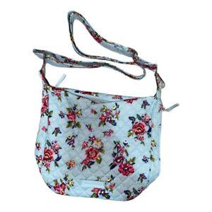 Vera Bradley IKAT BOUQUET Carson Mini Hobo Crossbody Bag Blue Floral Purse NWT