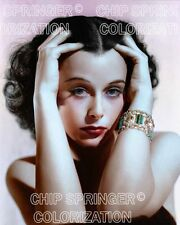 HEDY LAMARR WITH EMERALD BRACELET BEAUTIFUL COLOR PHOTO BY CHIP SPRINGER