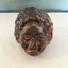 VTG Mid Century FLAMBE Art Pottery HEAD SCULPTURE Black AFRICAN AMERICAN Negro