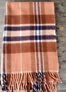 Vintage Wool Throw Terracotta