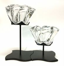 """PartyLite Windswept Pair of Votives with Stands, 7"""" & 4 1/2� Tall, Euc, L👀K"""