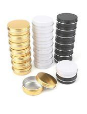 24-Pack Aluminum Tin Jars 2oz Screw Top Round Jars Metal Tin Cans Aluminum Tin