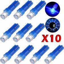 10 LED T5 CONCAVE BLU Lampade Luci Lampadine Per Quadro Strumenti Posizione Auto