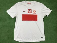 POLAND NIKE FOOTBALL HOME SHIRT  2012 - 14  LARGE  ADULT