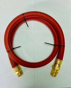 "3/4"" Compressed Air Jumper Hose 3/4 MPT With 3/4"" Female Swivel 300 P.S.I. HD 4'"