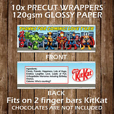 Super Hero Squad Personalised Kitkat Chocolate Wrappers Children Party Favours