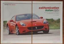 New listing FERRARI CALIFORNIA MAGAZINE ARTICLE MOTOR TREND CALIFORNICATION ITALIAN STYLE