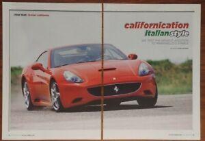 FERRARI CALIFORNIA MAGAZINE ARTICLE MOTOR TREND CALIFORNICATION ITALIAN STYLE