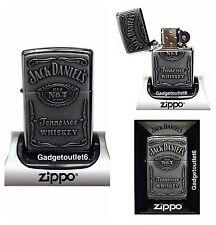 More details for zippo jack daniels lighter high polish chrome n0 7 logo original genuine