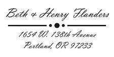 2000 Plus Printer 40 *Script Address* Address Self Inking Stamp (Ideal 200 Size)