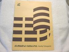 Gladding Hedlund Toboggans c 1970 sales brochure