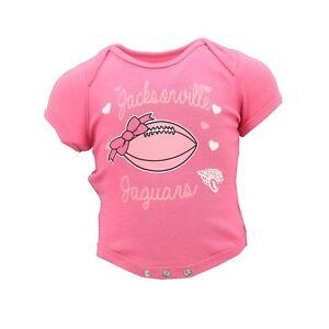 Jacksonville Jaguars NFL Official Infant Girls Pink Creeper Bodysuit New Tags