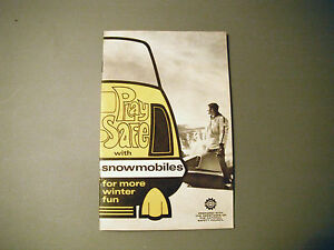 1969 Vintage Bombadier Snowmobile Safety Handbook