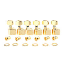 Musiclily Pro Gold 6 Inline 2-Pin Sealed Guitar Machine Tuning Pegs For Fender