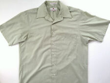 ETIENNE AIGNER Mens Button Down Short Sleeve Light Green Dress Shirt Size 16