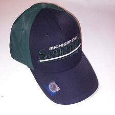 Russel Michigan State Spartans Hat Cap Green White Black Adjustable One Size