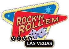 "Viva Las Vegas Rock'n Roll'em Car Bumper Window Vinyl Sticker Decal 5""X4"""