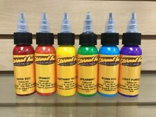 Eternal Tattoo Ink Professional 6 Color 1 Ounce RAINBOW SET HOT Free Shipping