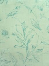 Ralph Lauren Curtain Fabric EUGENIE TOILE Dusk - Linen Floral Birds Design 1.15m