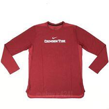 Nike Alabama Crimson Tide Dry Long Sleeve Player Top Shirt Men's L Red 908356
