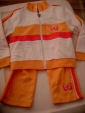GIRL'S 3 PC TRACK SUIT - SZ 18 MOS - NEW