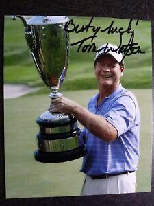 TOM WATSON Authentic Hand Signed Autograph 4X5 Photo  - PGA GOLF LEGEND