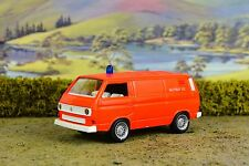R&L Diecast: Schabak VW Volkswagen  Transporter Van, Boxed, Notruf 12, Orange T3