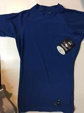 Intensity Athletic Tight Fit Performance Short Sleeve Shirt Royal, Small NWT