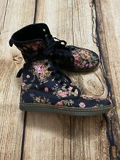 Dr Martens Floral Shoreditch Canvas Boots Women's Size US 7 / UK 5 / Euro 38