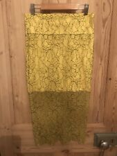 Zara Size Small Brand New Yellow Lace Pencil Skirt Outfit