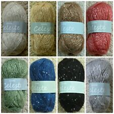 Knitting Wool 50g Celeste Sequin Double Knitting Knitting Wool Yarn Wendy Wools